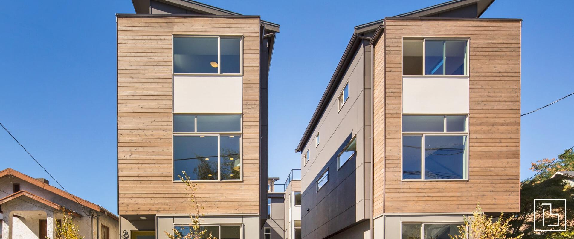 Two townhome exteriors - Beachworks LLC