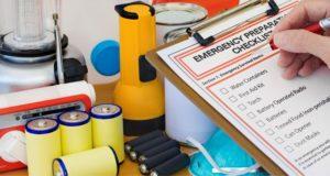 Emergency preparedness checklist and items